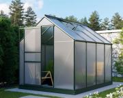 EPH Vitavia Gewächshaus Planet 5000 HKP 6mm, - Set Smaragd 5m² inkl. Fundamentrahmen