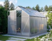 EPH Vitavia Gewächshaus Planet 6200 HKP 6mm, - Set Aluminium eloxiert 6,2m² inkl. Fundamentrahmen