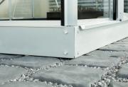 EPH Vitavia Gewächshaus Stahlfundamentrahmen 6200 12,5 cm Alu eloxiert