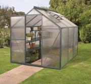 EPH Vitavia Gewächshaus Triton 3800 3,8 m² HKP 6 mm Smaragd pulverbeschichtet