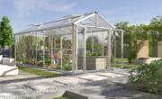 EPH Vitavia Gewächshaus Zeus Comfort 11900 Pflanzenhaus HKP10mm Alufarben