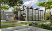 EPH Vitavia Gewächshaus Zeus Comfort 11900 Pflanzenhaus HKP16mm schwarz