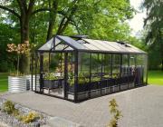 EPH Vitavia Gewächshaus Zeus Comfort 15700 ESG/HKP, schwarz