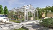 EPH Vitavia Gewächshaus Zeus Comfort 15700 15,7 m² ESG/HKP 4/10 mm aluminium eloxiert