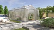 EPH Vitavia Gewächshaus Zeus Comfort 15700 15,7 m² HKP10mm aluminium eloxiert