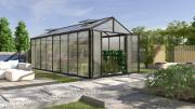 EPH Vitavia Gewächshaus Zeus Comfort 15700 15,7 m² HKP10mm schwarz