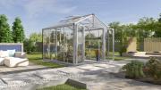 EPH Vitavia Gewächshaus Zeus Comfort 8100 8,1 m² ESG/HKP 4/10 mm aluminium eloxiert