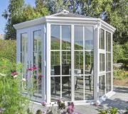 EPH Vitavia Nordic Pavillon Victoria 1400 Weiß 9,5 m² Glasdach