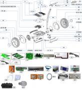 Ersatzteil Ninebot E+ Getriebe links weiß