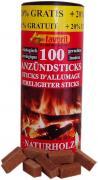 Favorit Anzündsticks 120 Stück für Grill, Kamin und Ofen aus Naturholz