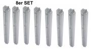 Feuchtraumleuchte 8er Set IP65 Leuchtstoff Wannenleuchte 36W inkl. Leuchtmittel Neonröhre