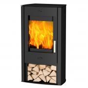 Fireplace Kaminofen Zeitbrandofen Tuvalu Stahl schwarz (6 kW)