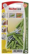 fischer Dübel Spreizdübel Allzweckdübel SX GREEN 5x25 S K 20 Stück