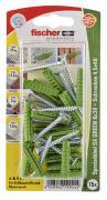 fischer Dübel Spreizdübel Allzweckdübel SX GREEN 6x30 S K 15 Stück