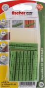fischer Dübel Spreizdübel Allzweckdübel SX GREEN 6x50 K 10 Stück