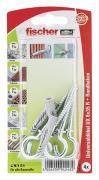 fischer Universaldübel Spreizdübel Hohlraumdübel UX 6x35 RH K 4 Stück