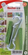 fischer Universaldübel Spreizdübel Hohlraumdübel UX GREEN 10x60 R RH K 2 Stück