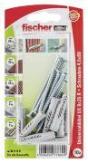 fischer Universaldübel Spreizdübel Hohlraumdübel UX 6x35 R S K 10 Stück
