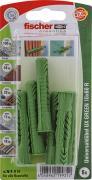 fischer Universaldübel Spreizdübel Hohlraumdübel UX GREEN 10x60 R K 6 Stück