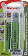 fischer Universaldübel Spreizdübel Hohlraumdübel UX GREEN 12x70 S K 2 Stück