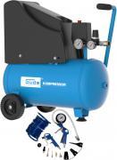 Güde Druckluft Kompressor 220/08/24 230 V 1,5 kW Industriekompressor 13tlg. Luftdruck Hochdruck 8 Bar ölfrei