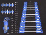 Güde Gabelringratschenschlüsselset Innensechkant 54 tlg. Werkstatteinrichtung Werkstattwageneinsätze