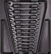 Güde Gabelringschlüssel Set 12 tlg. Werkstatteinrichtung Werkzeuge Werkstattwageneinsätze