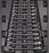 Güde GI 2/3-Gabelringratschenschlüssel-Set 13tlg. Werkstattwageneinsätze Werkstatteinrichtung Werkzeug