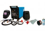 Güde Schutzgas-Schweißgerät-Set 192K 8-teilig Schweißgerät Schweissen inkl. Draht, Handschuhe, Schild und Spray