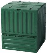 Garantia ECO-King Komposter 400 L grün mit zwei großen Einfüllklappen 70 x 70 x 83 cm