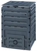 Garantia ECO-Master Komposter 450 L schwarz ohne Boden mit großer Einfüllöffnung 70 x 70 x 102 cm