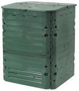 Garantia Komposter Thermo-King 400 L grün mit zwei großen Einfüllklappen 74 x 74 x 84 cm