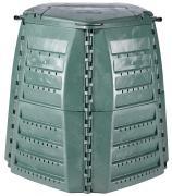 Garantia Thermo-Star Komposter 400 L grün mit großer Einfüllklappen und Deckel im Deckel 80 x 80 x 102 cm
