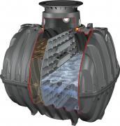 GRAF Carat Klärbehälter 6500L m. T-Wand u. T-Dom Mini mit PKW-befahrbarer Tankabdeckung