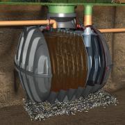 GRAF CARAT Mechanische Absetzgrube 3750 Liter max. 11 EW, Tankdom Mini und TD-Mini, begehbar