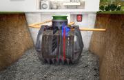 GRAF easyOne Vollbiologische SBR-Kleinklär-Einbehälteranlage 1-5 EW 3750 L PKW-befahrbar