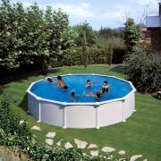 Gre Atlantis Pool-Set Aufstellbecken rund inkl. Sandfilterung + Zubehör (HxD) 132 x Ø 460 cm