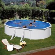 Gre Bali Pool-Set Aufstellbecken oval inkl. Sandfilterung + Zubehör (HxBxT) 120 x 375 x 610 cm
