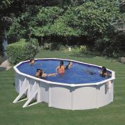 Gre Bora Bora Pool-Set Aufstellbecken oval mit Außenstreben inkl. Kartuschenfilter + Zubehör (HxBxT) 120 x 375 x 610 cm
