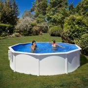Gre Bora Bora Pool-Set Aufstellbecken Rund inkl. Kartuschenfilter + Zubehör (HxD) 120 x Ø 350 cm