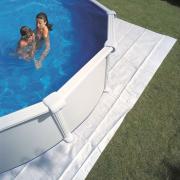 Gre Filzbodenschutz weiß für Ovalbecken 525 x 325 cm Polyester 110 g/m² Bodenplane