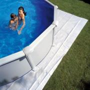 Gre Filzbodenschutz weiß für Rundbecken 400 x 400 cm Polyester 110 g/m² Bodenplane