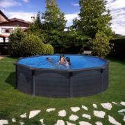 Gre Graphite Pool-Set Aufstellbecken rund inkl. Sandfilterung + Zubehör (HxD) 132 x Ø 460 cm
