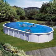 Gre Haiti Pool-Set Aufstellbecken oval Omegasystem inkl. Sandfilterung + Zubehör (HxBxT) 132 x 375 x 730 cm