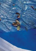 Gre Isotherm-Abdeckung für Ovalbecken blau 725 x 370 cm Polyethylen 180 g/m² Poolplane zur Wärmeerhaltung