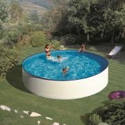 Gre Lanzarote Pool-Set Aufstellbecken Rund inkl. Kartuschenskimmer + Zubehör (HxD) 90 x Ø 350 cm