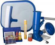 Gre Pflegeset für Pools Kescher + Bürste + Dosierer + Bodensauger + Thermometer