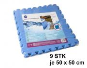 Gre Schutzmatte für Schwimmbeckenböden 2,25 m² (9 Stück á 50 x 50 cm) Polyethylen blau