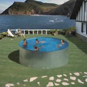 Gre Tenerife Pool-Set Aufstellbecken Rund inkl. Kartuschenfilter + Zubehör (HxD) 90 x Ø 350 cm