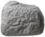 Greenlife Dekorregenspeicher Regentonne Regenfass Findling 500 Liter granitgrau 120 x 80 x 85 cm